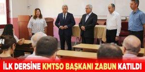 KMTSO Başkanı Zabun tekstil mühendislerinin ilk dersine katıldı