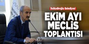 Dulkadiroğlu Belediyesi Ekim ayı meclis toplantısı