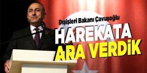 Dışişleri Bakanı Çavuşoğlu: 'Harekata ara verdik'