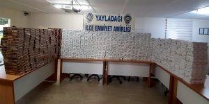 Hatay'da 8 bin paket kaçak sigara ele geçirildi