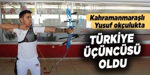 Kahramanmaraşlı Yusuf okçulukta Türkiye üçüncüsü oldu