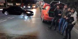 İstanbul'da asker uğurlama konvoyunda 'drift' terörü
