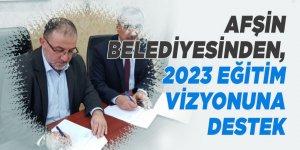 Afşin belediyesinden, 2023 eğitim vizyonuna destek