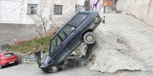Freni boşalan araç kaza yaptı: 1 yaralı