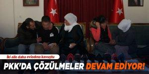 PKK'da çözülmeler devam ediyor! İki aile daha evladına kavuştu