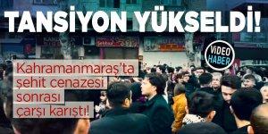 Kahramanmaraş'ta şehit cenazesi sonrası tansiyon yükseldi