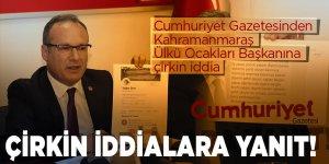 Başkan Ertuğrul'dan Cumhuriyet Gazetesinin çirkin iddialarına yanıt