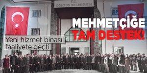 Yeni hizmet binasından Mehmetçiğe tam destek