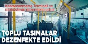 Kahramanmaraş'ta toplu taşımalar dezenfekte edildi