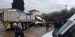 İzmir'de kaza can aldı: 1 ölü, 4 yaralı
