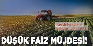 Tarımsal üretim için düşük faizli kredi kullanım şartları