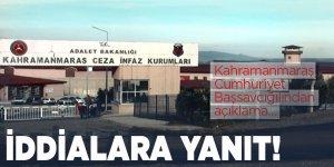 Türkoğlu Cezaevinde korona virüsü tespit edildi iddialarına açıklama