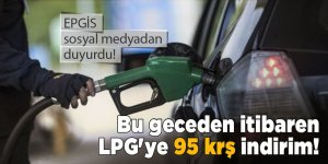 Bu geceden itibaren LPG'ye 95 krş indirim!