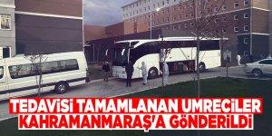 Tedavisi tamamlanan umreciler Kahramanmaraş'a gönderildi