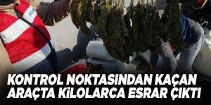 Dur ihtarına uymayan araçtan yüzlerce kilo uyuşturucu çıktı