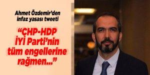 Ahmet Özdemir'den infaz yasası tweeti!
