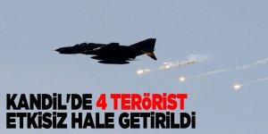 Kandil'de 4 terörist etkisiz hale getirildi