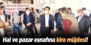 Elbistan Belediyesi'nden hal ve pazarcı esnafına kira müjdesi