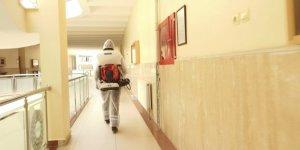 Büyükşehir'den sınav öncesi dezenfekte