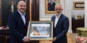 İlk Bağış İçişleri Bakanı Süleyman Soylu'dan
