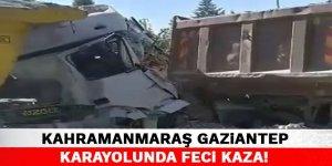 Kahramanmaraş Gaziantep Karayolunda Feci Kaza!