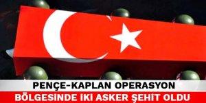 MSB: Pençe-Kaplan operasyon bölgesinde 2 asker şehit oldu, 1 asker yaralandı