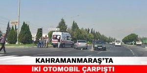 Kahramanmaraş'ta iki otomobil çarpıştı