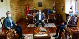Kahramanmaraş Milletvekilleri Özdemir ile Sezal, Rektör Can'ı ziyaret etti
