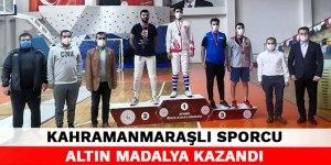 Kahramanmaraşlı sporcu altın madalya kazandı