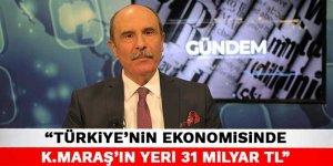 Şahin Balcıoğlu: Türkiye'nin ekonomisinde Kahramanmaraş'ın yeri 31 milyar TL