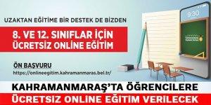 Kahramanmaraş'ta öğrencilere ücretsiz online eğitim verilecek