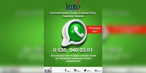KMTSO Whatsapp Danışma Hattı kuruldu