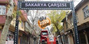 Kahramanmaraş'ta Sakarya Çarşısı'na bakım yapılıyor