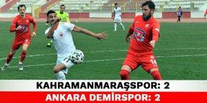 Kahramanmaraşspor: 2 Ankara Demirspor: 2