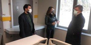 Milletvekili Aycan, Akademi Hastanesinde incelemelerde bulundu