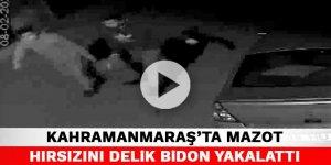 Kahramanmaraş'ta mazot hırsızını delik bidon yakalattı