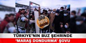 Türkiye'nin buz şehrinde 'Maraş Dondurma' şovu