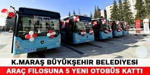 Kahramanmaraş Büyükşehir Belediyesi araç filosuna 5 yeni otobüs kattı