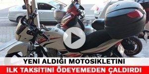 Kahramanmaraş'ta yeni aldığı motosikletini ilk taksitini ödeyemeden çaldırdı