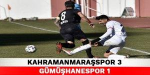 Kahramanmaraşspor 3-1 Gümüşhanespor