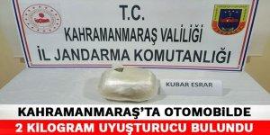 Kahramanmaraş'ta otomobilde 2 kilogram uyuşturucu bulundu