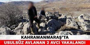 Kahramanmaraş'ta usulsüz avlanan 2 avcı yakalandı