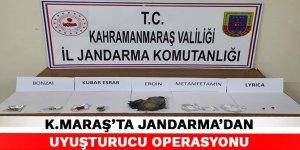 Kahramanmaraş'ta jandarma'dan uyuşturucu operasyonu