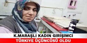 Kahramanmaraşlı kadın girişimci Türkiye üçüncüsü oldu