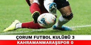 Çorum Futbol Kulübü 3-0 Kahramanmaraşspor