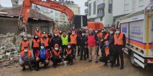 Pazarcık'ta arama kurtarma eğitimleri ve tatbikatı gerçekleştirildi