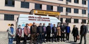 Kahramanmaraş'ta öğrenciler Karacaoğlan Mobil-Gezici Kütüphanesi ile buluştu