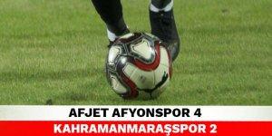Afjet Afyonspor 4-2 Kahramanmaraşspor