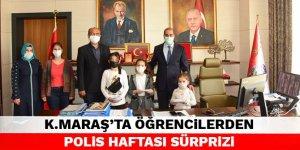 Kahramanmaraş'ta öğrencilerden Polis Haftası sürprizi
