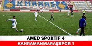 Amed Sportif 4-1 Kahramanmaraşspor